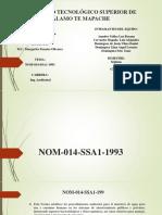 NOM 014-SSA1-1993-1