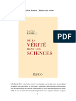 De La Verdad en Las Ciencias