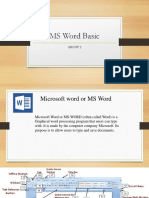 Ms Word Basic Report