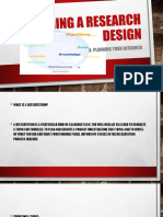 Planning a Research Design