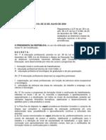 Decreto 5154 04 Regulamentacao Ensino Profissional
