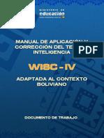 13. Manual de Aplicacion y Correccion Del Test de Inteligencia WISC