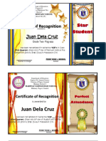 Sample Certificates