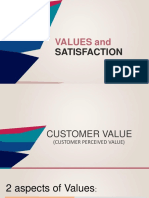 Values and Satisfaction