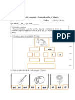 evaluacion lenguaje 3° septiembre