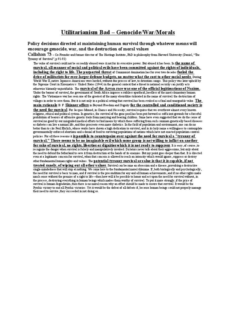 worksheet Korematsu V United States Worksheet utilitarianism bad risk