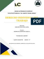 Estabilidad Laboral. Ana Laura Samudio So9lís.