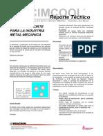 Fluidos de Corte Para La Industria Metalmecanica