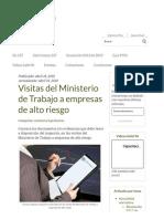 Visitas del Ministerio de Trabajo a empresas de alto riesgo - SafetYA®.PDF