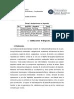 Tema 3 Instituciones de Deposito