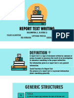 report tex writing