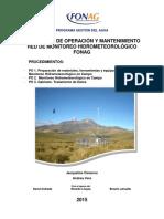 Protocolo Operacion Mantenimiento FONAG