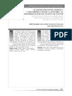 Hurtado (2011) La distinción enter la opinión y el conocimiento la fundamentación del Estado en Platón.pdf