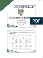 Matriz de Rigidez Considerando Deformacion Axial y Corte 2019