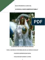 Altar de la Santa Muerte en Puebla