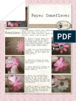 Paper Cone Flowers Tutorial