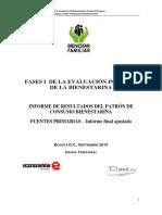 Evaluacion Integral Bienestarina Informe 2012
