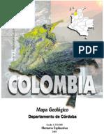 Memorias Del Mapa Geológico Del Depto de Córdoba