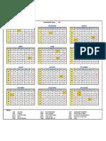Calendário de Feriados