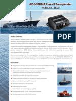 AIS SOTDMA Class B Transponder WideLink B600 v1.3(s)