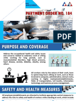 PPT_DO 184_safety & Health Measures for Workers Who Spend Long Hours Sitting