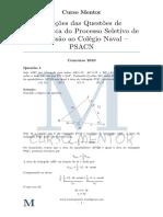 Prova Matemática Cn 2010-2011 Comentada Curso Mentor 2