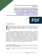 El papel de la Comunicación en las disputas  por el Derecho a la Medicina Propia