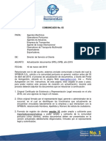 Comunicado No. 3 Actualizacion Documentos 2019