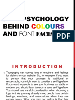 The Psychology Behind Colours and Font Faces