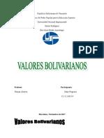 Informe Valores Bolivarianos. Regueiro Mary