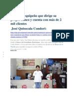 El Niño Arequipeño Que Dirige Su Propio Banco y Cuenta Con Más de 2 Mil Clientes