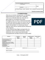 Evaluación de Calidad Lectora- Agosto