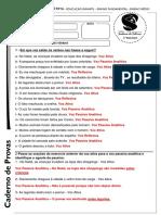 Gabarito Português - Exercício - Vozes 8º Ano