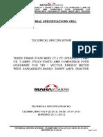 Tech Specs of ABT Meter 25 11 20111
