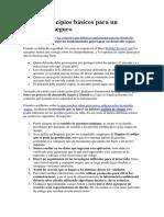 Los 10 Principios Básicos Para Un Desarrollo Seguro