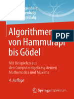Jochen Ziegenbalg, Oliver Ziegenbalg, Bernd Ziegenbalg (Auth.) - Algorithmen Von Hammurapi Bis Gödel_ Mit Beispielen Aus Den Computeralgebrasystemen Mathematica Und Maxima (2016, Springer Spektrum)
