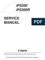 Canon iP5200 Service Manual