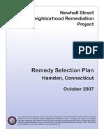Remedy Selection Plan
