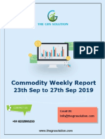 The Grs Solution Weekly Commodity Report 23 September 2019