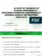 Impact of CSRD on financial Performance of Universal Banks in the Philippines