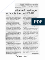 Manila Times, Sept. 23, 2019, Restoration of heritage schools to cost P2.4B.pdf