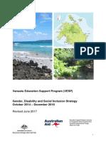VESP Gender & Diability &SI Strategy 2014-2018