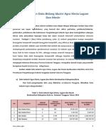 Data Perkembangan Serta Peran Industri Agro