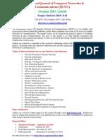 International Journal of Computer Networks & Communications (IJCNC) -- (Scopus, ERA Listed)