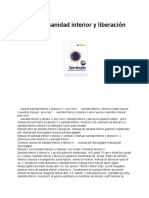 Manual de Sanidad Interior y Liberación