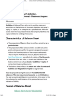 Balance Sheet Definition Characteristics and Format - Business Jargons