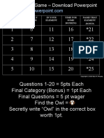 Periodic Table Review Game With Answers for Educators - Download .ppt at www.sciencepowerpoint.com