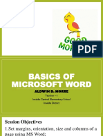 Basics of MS Word - Aldwin Morre.pptx
