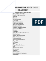 Carboh. Almidona y Fibrosos