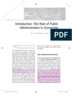 8 Guy Peters - The role of Public Administration in Governing_LT.pdf